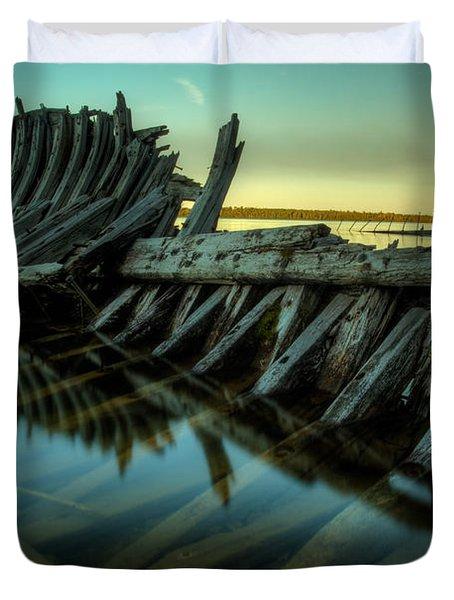 Unknown Shipwreck Duvet Cover by Jakub Sisak