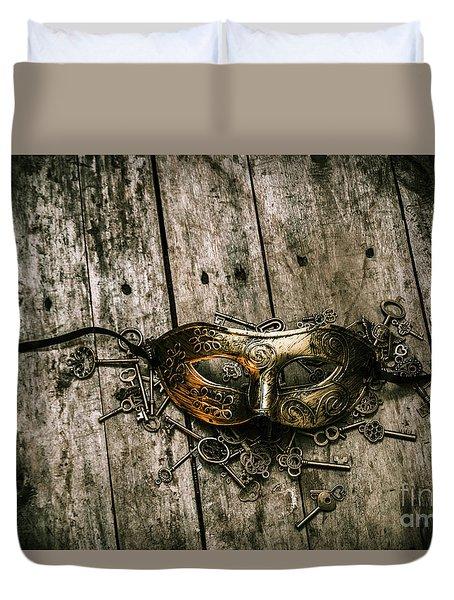 Unlocking A Golden Mystery Duvet Cover by Jorgo Photography - Wall Art Gallery
