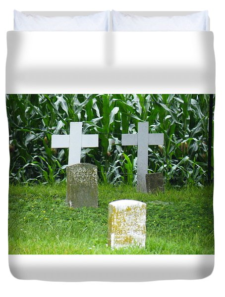 Unmarked Youth Center Graves #1 Duvet Cover