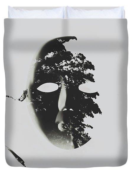 Unmasking In Silence Duvet Cover