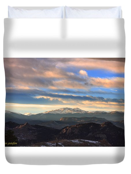 The Unmatched Beauty Of The Colorado Rockies Duvet Cover