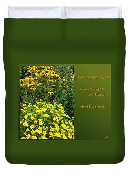 Unpegging Wash Haiga Duvet Cover by Judi and Don Hall