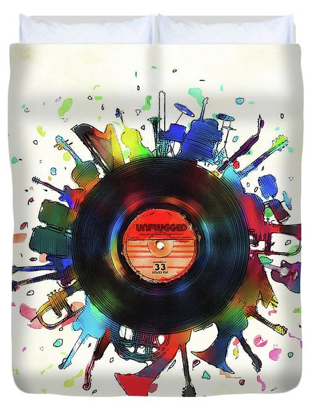 Unplugged Duvet Cover