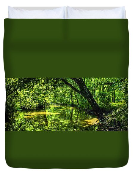 Unseen Critters Of The Lost Bayou Duvet Cover by Kimo Fernandez