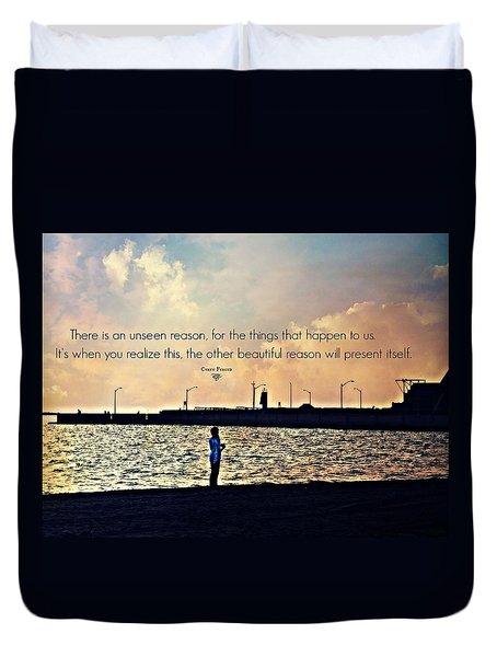 Unseen Reason Duvet Cover by Cyryn Fyrcyd