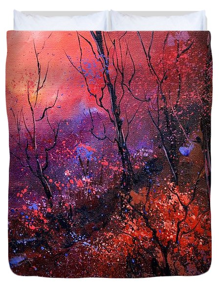 Unset In The Wood Duvet Cover by Pol Ledent