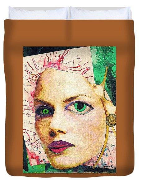 Unsettling Gaze Duvet Cover by Sarah Loft