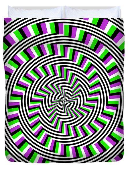 Self-moving Unspiral Duvet Cover