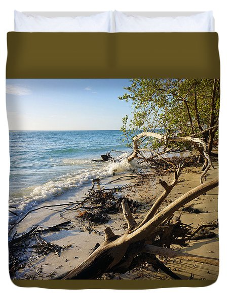 The Unspoiled Beaty Of Barefoot Beach Preserve In Naples, Fl Duvet Cover