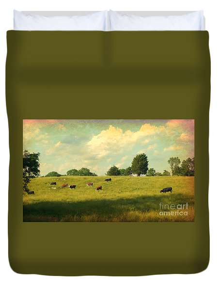 Until The Cows Come Home Duvet Cover