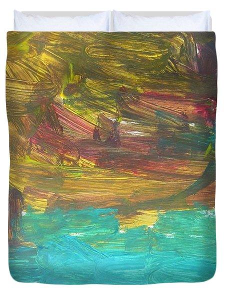 Untitled 126 Original Painting Duvet Cover