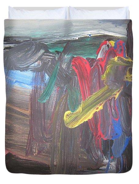Untitled 128 Original Painting Duvet Cover