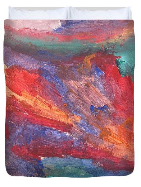 Untitled 95 Original Painting Duvet Cover