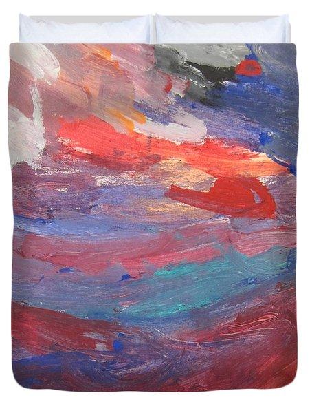 Untitled 96 Original Painting Duvet Cover