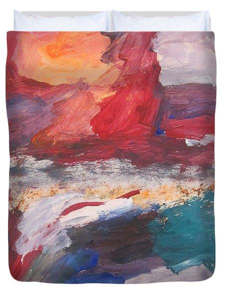 Untitled 98 Original Painting Duvet Cover