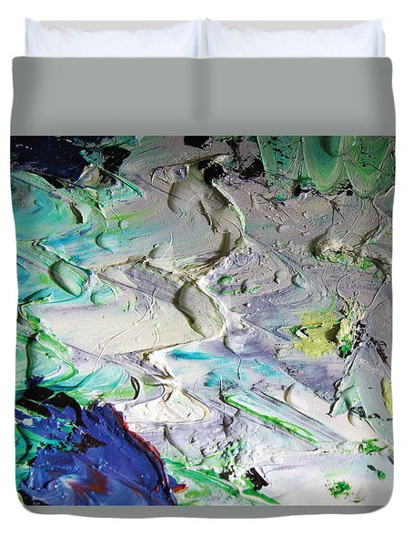 Untitled Abstract With Droplet ## Duvet Cover