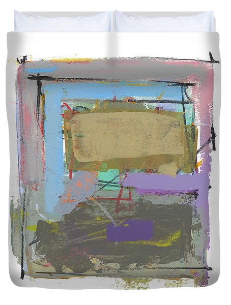 Duvet Cover featuring the painting Untitled  by Chris N Rohrbach