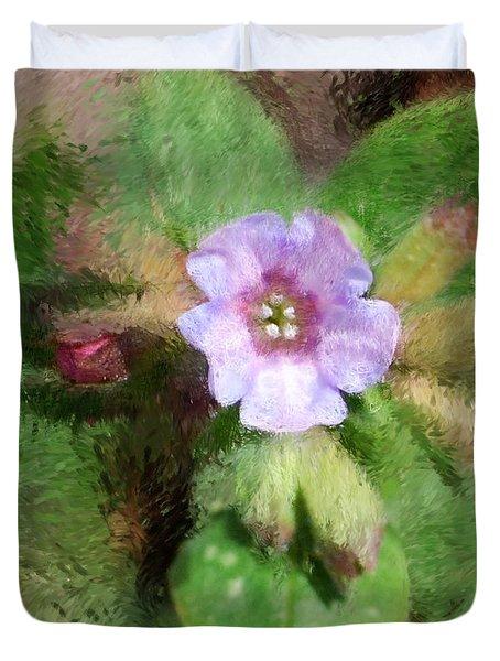 Untitled Floral -1 Duvet Cover by David Lane