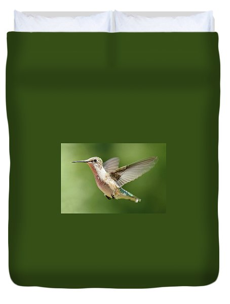 Untitled Hum_bird_two Duvet Cover