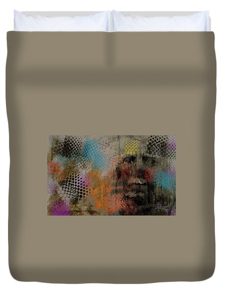 Duvet Cover featuring the painting Untitled June 6 2015 by Jim Vance