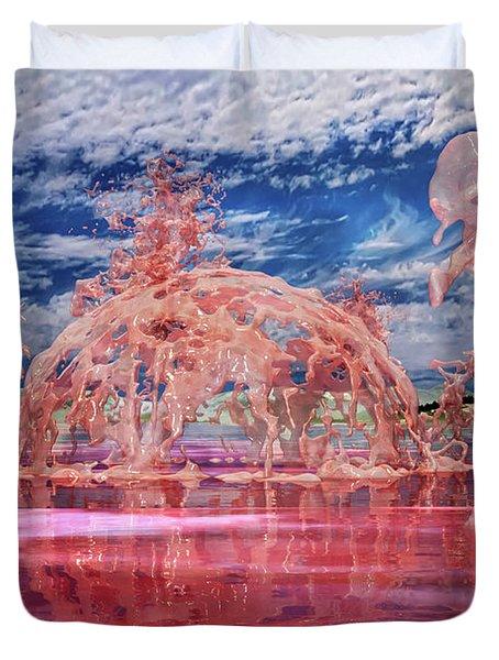 Untitled Liquid 12 Duvet Cover