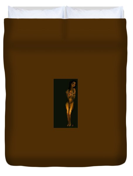 Untitled Nude 04nov2015 Duvet Cover by Jim Vance