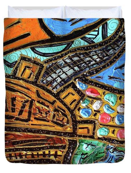 Untitled Olmec And Tehuti Duvet Cover