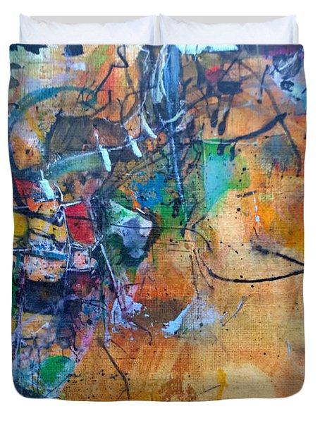 Untitled Or Ink Flow Duvet Cover