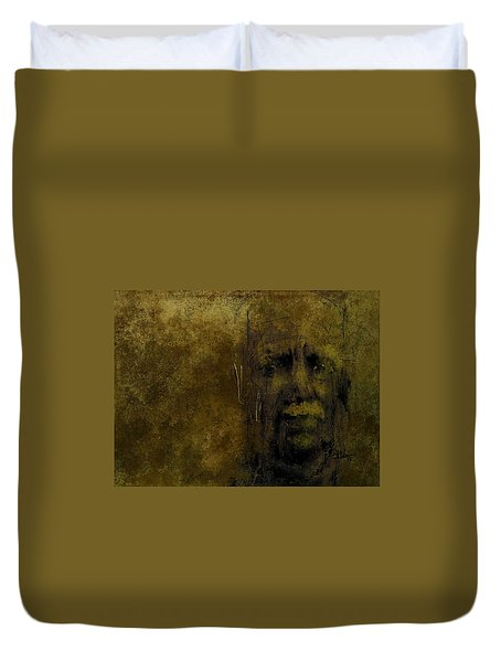 Duvet Cover featuring the digital art Untitled Portrait 06june2015 by Jim Vance