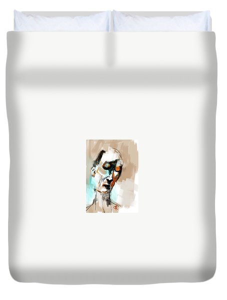 Untitled Portrait Duvet Cover by Jim Vance