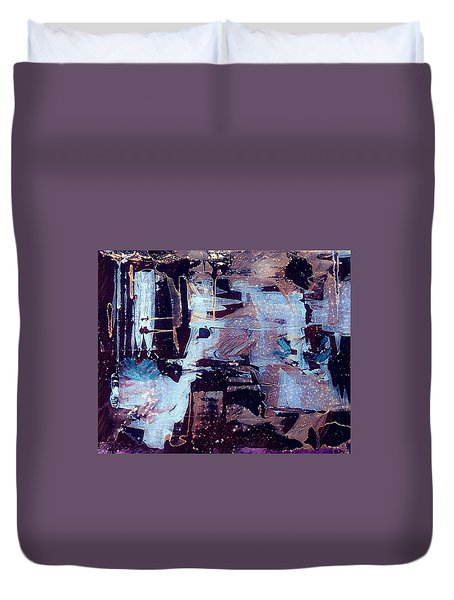Duvet Cover featuring the painting Untitled by 'REA' Gallery