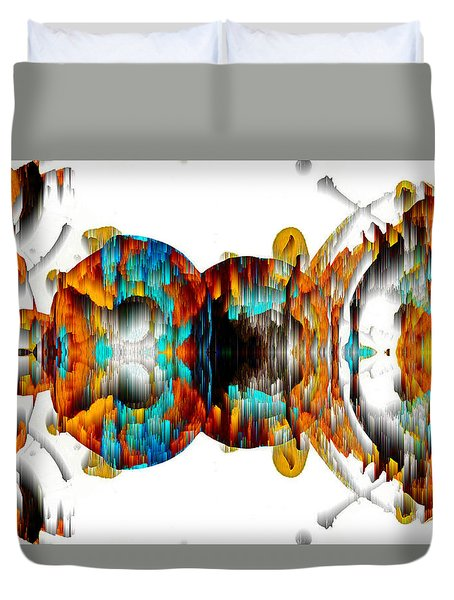 Duvet Cover featuring the digital art Untitled Series 992.042212 -b by Kris Haas