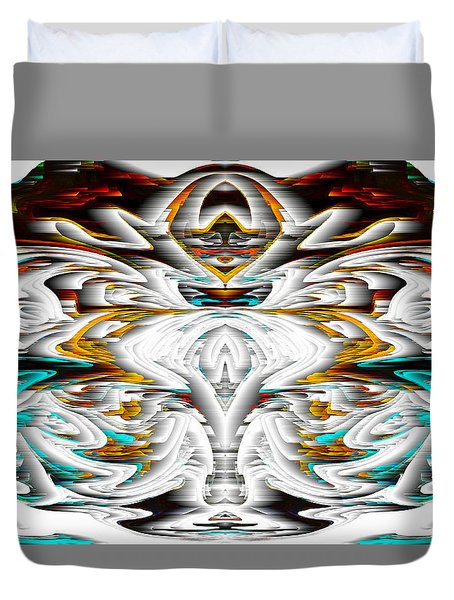 Duvet Cover featuring the digital art Untitled Series 992.042212 by Kris Haas