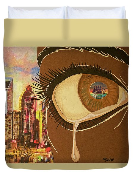Untitled Tears Duvet Cover