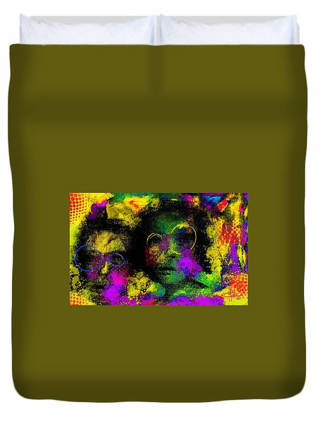 Duvet Cover featuring the digital art Untitled2 06june2015 by Jim Vance