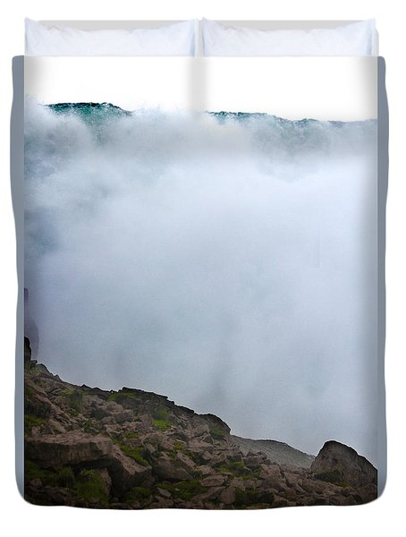 Duvet Cover featuring the photograph The Wall Of Water by Dana DiPasquale
