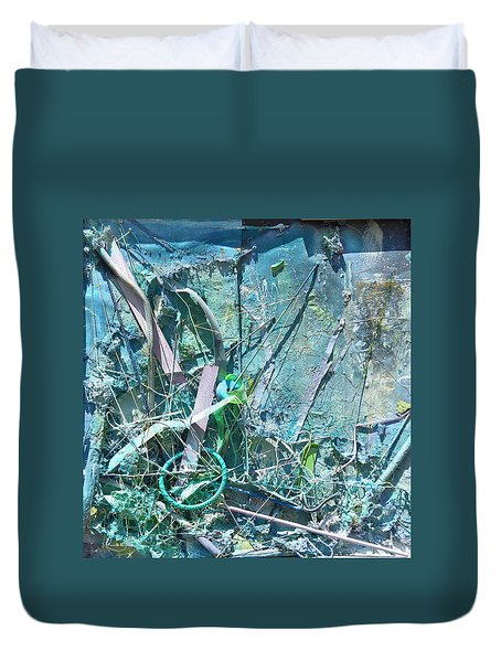 Duvet Cover featuring the pastel Untitled by Robert Anderson