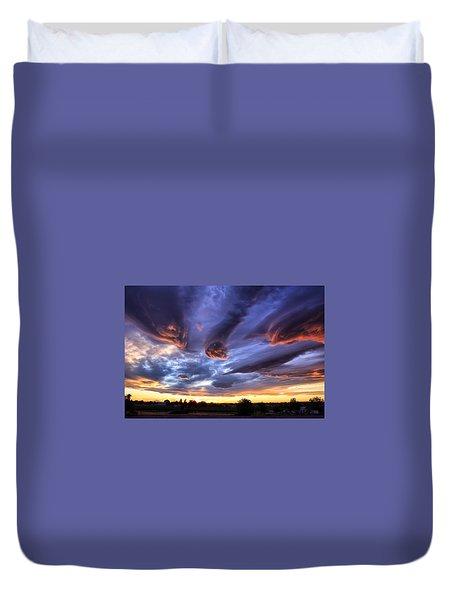 Alien Cloud Formations Duvet Cover by Lynn Hopwood