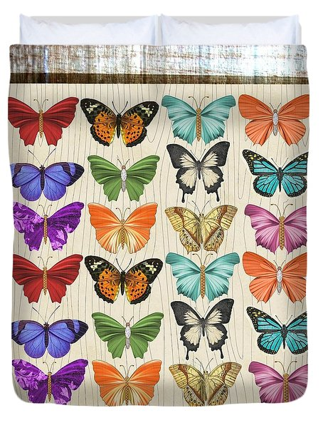 Colourful Butterflies Collage Duvet Cover