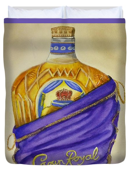 Duvet Cover featuring the painting Unveil The Crown .... Whisky by Kelly Mills
