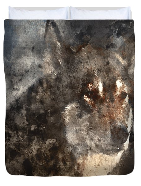 Duvet Cover featuring the digital art Unwavering Loyalty by Elaine Ossipov