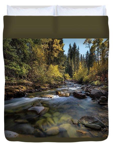 Up A Colorado Creek Duvet Cover