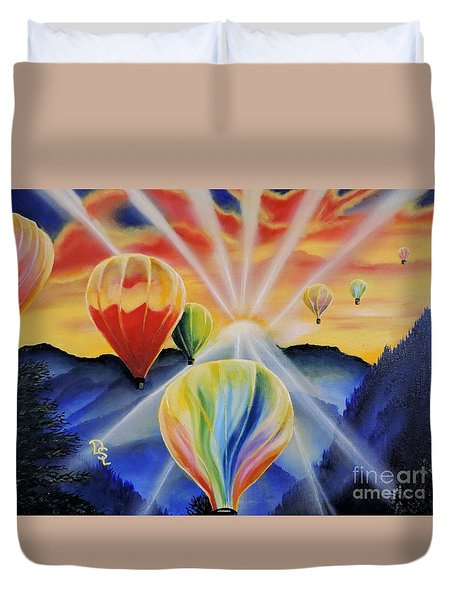 Up And Away Duvet Cover by Dianna Lewis