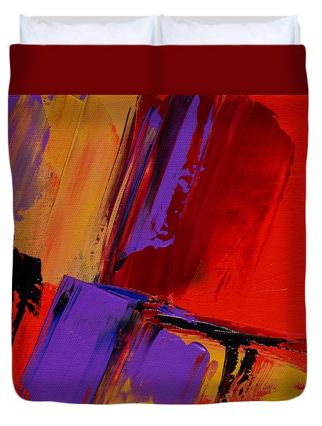Duvet Cover featuring the painting Up And Down - Art By Elise Palmigiani by Elise Palmigiani