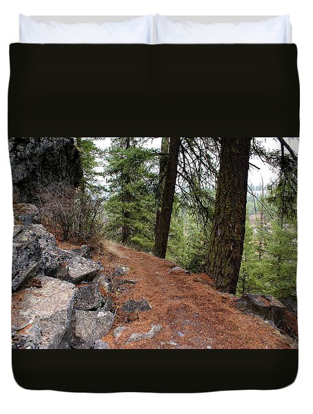 Duvet Cover featuring the photograph Up Around The Bend... by Ben Upham III