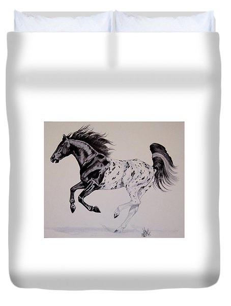 Up Close And Personal With Appaloosa's Duvet Cover