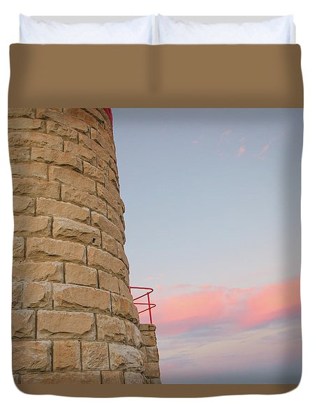 Close-up Detail Of The Cape Moreton Lighthouse Duvet Cover
