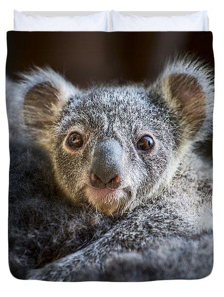 Up Close Koala Joey Duvet Cover