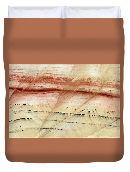 Up Close Painted Hills Duvet Cover by Greg Nyquist