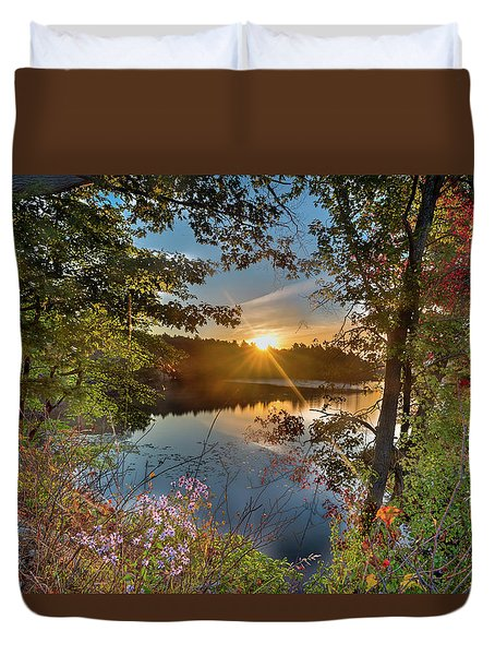 Up Early For The Start Of Fall Color... Duvet Cover